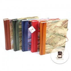 Colored leather photo albums