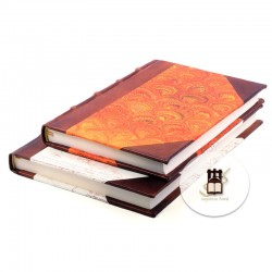 Half leather classic guestbooks