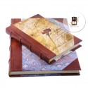 Half leather old looking guest books