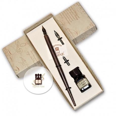 Canotto legno con pennino