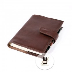 Refillable journal with pen