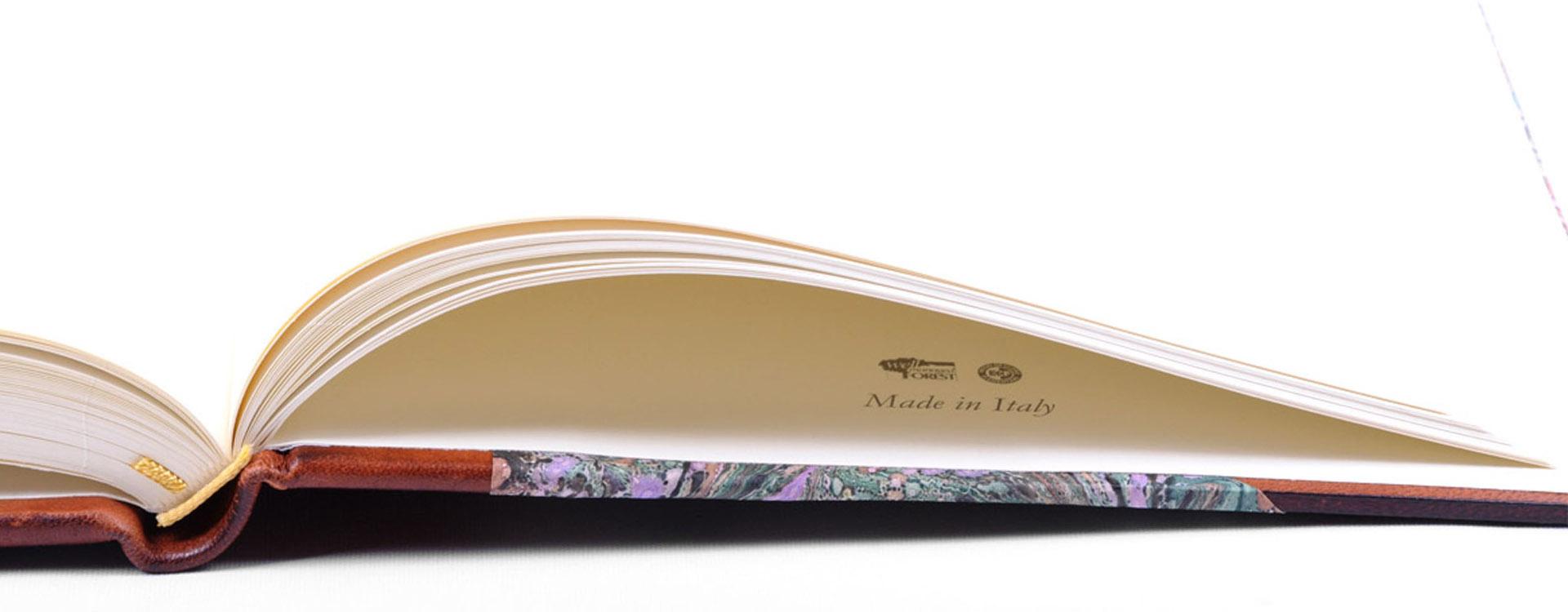 Diario in mezza pelle con pagine avorio